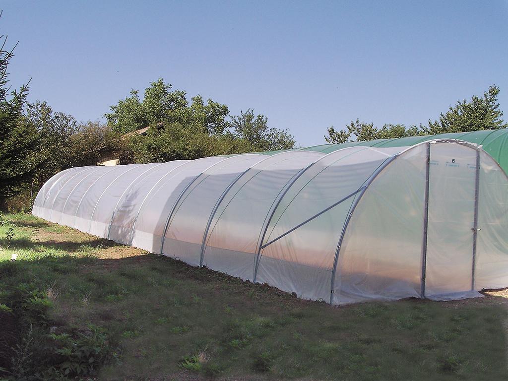 Tunnels filclair la serre plastique filclair simple et for Serre de jardin richel